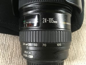 Canon 24-105mm zoom lens great for videography